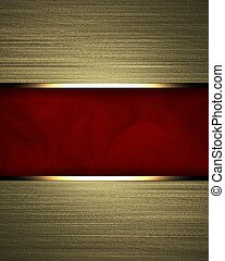 Gold background with red texture stripe layout