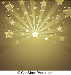 gold background with stars