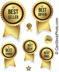 Gold badges best set .