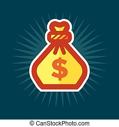 Gold Bag of Money Icon