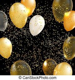 Gold balloon vector background