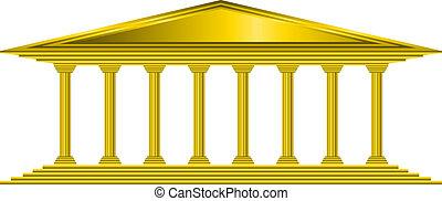 gold, bank, ikone
