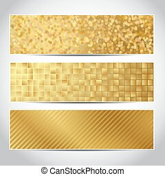 gold banners trendy