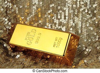 Gold bar 1000g, close up image