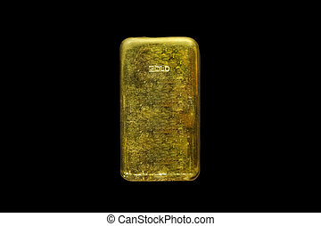 Gold bar bullion ingot