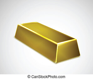 Gold bar isolated on white background. Vector