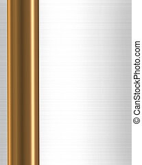 Gold Bar on White Satin border frame - Illustration...