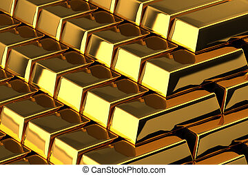 Gold Bars - A pile of nice shiny gold bars