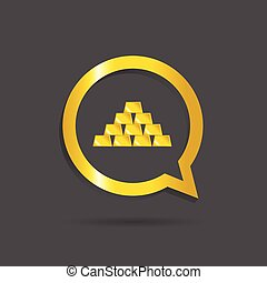 gold bars icon vector illustration on gray background