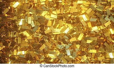 Gold bars of different size and weight