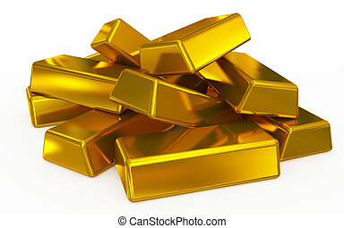gold bars pile
