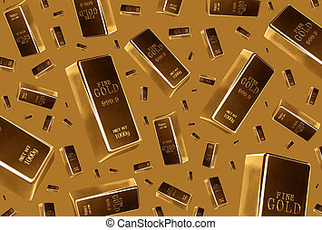 Gold bars rain