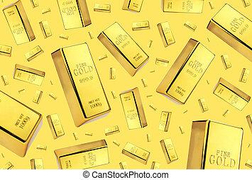 Gold bars rain on golden