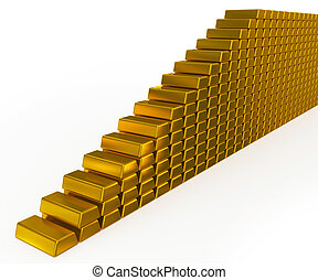 gold bars stairs