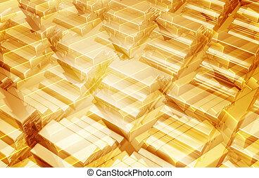 Gold Bars 3D