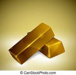 Gold bars - Two bars gold. Eps 10