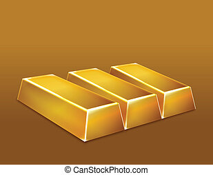 Gold bars. Vector