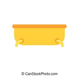 Gold Bath isolated. Expensive Bathroom. Vector illustration