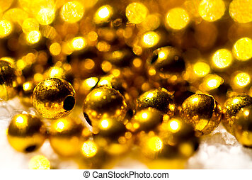 Gold beads abstract background I