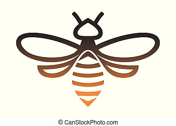 gold bee logo vector