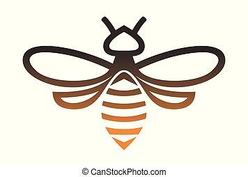 gold bee logo vector