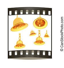 Gold bell set. The film strip