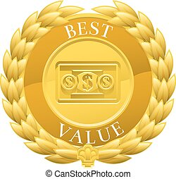 Gold Best Value Winner Laurel Wreath Medal