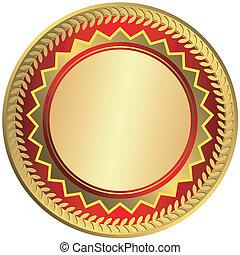 Gold big medal (vector)