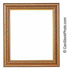 gold, bilderrahmen, mit, a, dekoratives muster