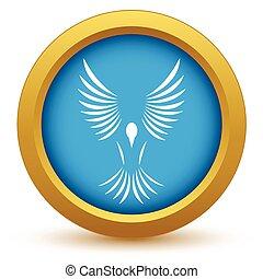 Gold bird icon