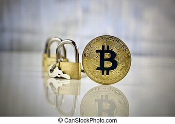 Gold bitcoin coin - secure payments