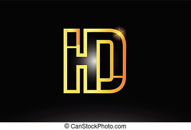 Hd h d alphabet letter logo combination icon alphabet design hd h d gold black alphabet letter hd h d logo combination icon design altavistaventures Gallery