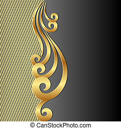 black background - gold black background with ornament