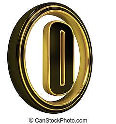 Gold Black Font Letter
