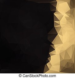 Gold BlackPolygonal Mosaic Background, Vector illustration,  Creative  Business Design Templates