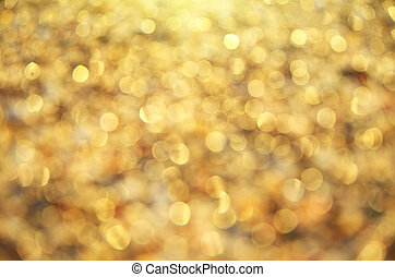 Gold bokeh background. Element of design.