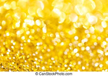 gold, bokeh