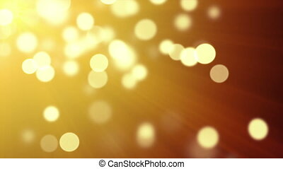 gold bokeh lights loopable background