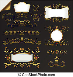 Gold Border Vector Set - gold border vector set for your ...