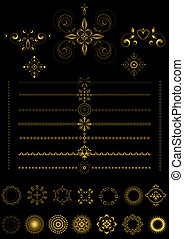 Gold  borders and ornaments