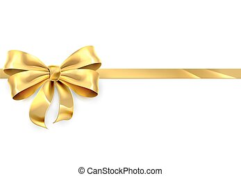 Gold Bow Ribbon Gift Background