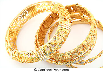 Gold bracelets 3 - A collection of traditional Arabian or...