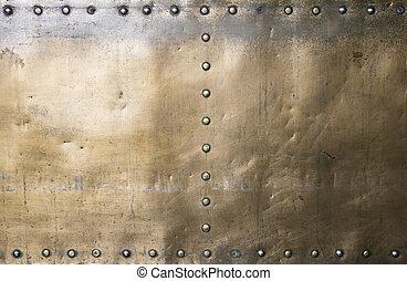 Gold brass metal