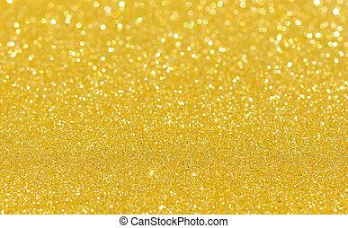 Gold bright blur glitter background