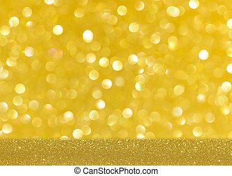 Gold bright blur glitter background