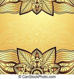 Gold-brown vintage frame