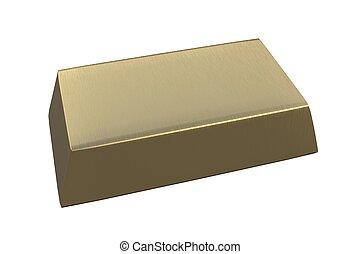 Gold bullion 3D.Financial concept. - Gold bullion 3D...