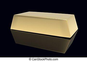 Gold bullion 3D.Financial concept. - Gold bullion 3D on a...