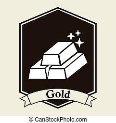 gold bullion design, vector illustration eps10 graphic