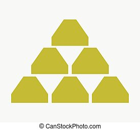 Gold bullion icon